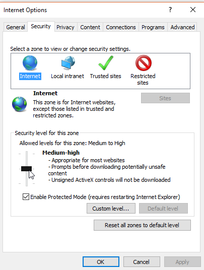 Google Chrome Security Settings