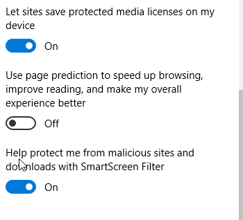 Microsoft Edge security