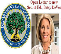 DOE seal & SecOfEd DeVos